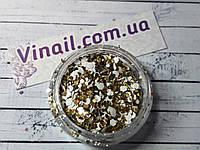 """Декор для нігтів в баночці """"Паєтки"""" №1376"""