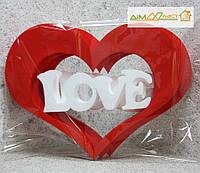 """Сердце LOVE"" набор 3шт. в цвете"