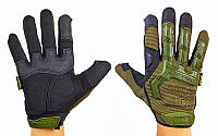 Перчатки тактические с закрытыми пальцами MECHANIX WEAR ( оливковый)