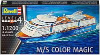 Круизное судно M/S Color Magic, 1:1200, Revell