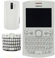 Корпус для Nokia Asha 205, с клавиатурой, белый, оригинал