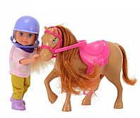 Кукла Эви и рыжая пони, Steffi & Evi Love