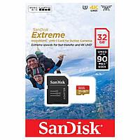 Карта памяти SanDisk 32GB microSDHC UHS-I U3 Extreme 4K + SD adapter