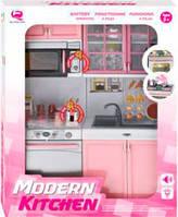 Кукольная кухня Маленькая хозяюшка, розовая, набор №5, QunFengToys