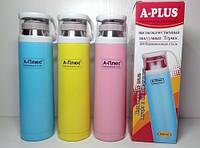 Детский термос для воды и горячих напитков А-Плюс 1779, 500 мл, металл, чашка с ручкой, цвет на выбор
