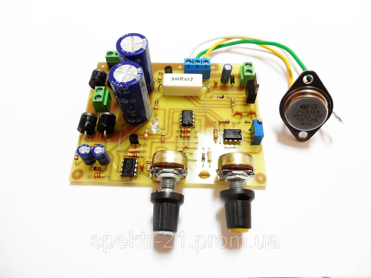 схема блока питания на транзисторе 2n3055