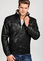 Мужская кожаная дубленка куртка(еко-кожа)