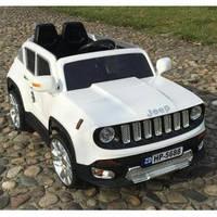 Детский электромобиль M 2766 EBLR-1 Jeep Renegade, кожаное сиденье, белый***