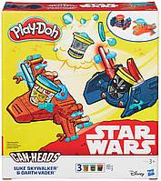 Люк Скайвокер и Дарк Вейдер набор пластилина Транспортные средства Звездные войны, Play-Doh
