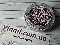 """Декор для ногтей в баночке """"Пайетки"""" №1366"""