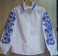 """Вышитая рубашка для девочек """"Дивограй"""" (арт. СА1-162.8.11)"""