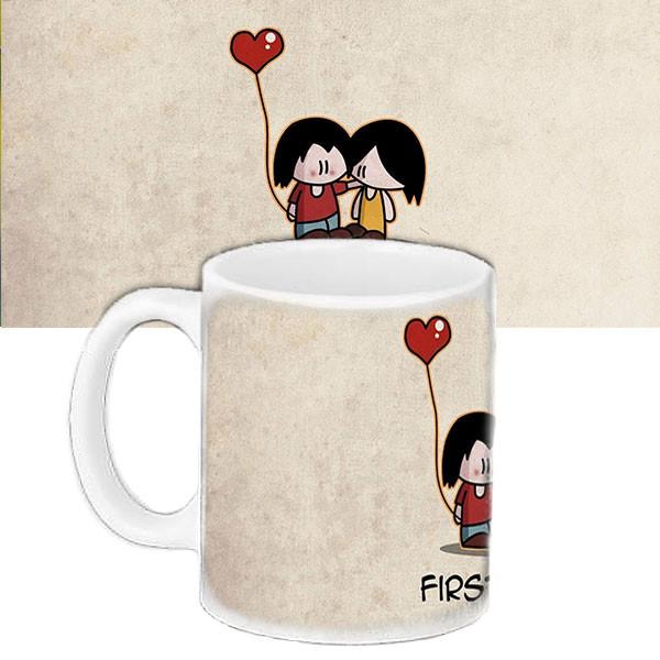 Кружка подарок с принтом Первая любовь