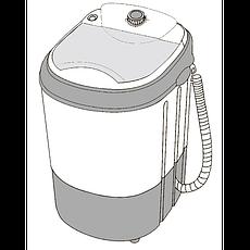 Пральна машина напівавтомат ST 22-30-07 Пральна машина однобакова 3кг знімна пластикова центрифуга, фото 3