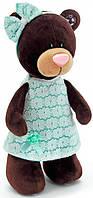 Медведица, стоящая в зелёном платье, 25 см, Choco & Milk, Orange