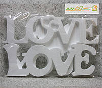 "Слова ""LOVE"" 60см 3шт. без покраски"