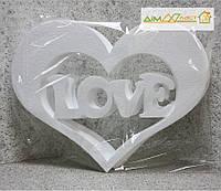"Набор сердца ""Love"" 3шт. 40 см. без покраски"