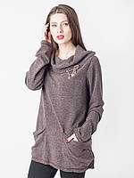 Женская кофточка из ангоры с карманами