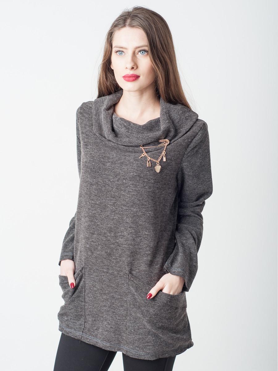Жіноча кофточка з ангори з кишенями 50,46