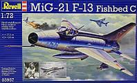 Многоцелевой истребитель MiG-21 F.13, 1:72, Revell