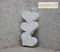 Набор сердец средние 15см, набор 9шт. без покраски