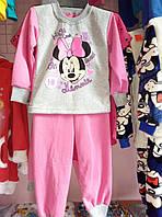Пижама для девочки теплая с начесом