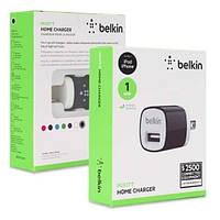 Belkin Mixit Home Charger 1A 1USB Универсальное Сетевое Зарядное Устройство Черный Блок Белый Вилка