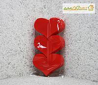 Набор сердец средние 15см, набор 9шт. в цвете