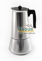 Кофеварка гейзерная из нержавеющей стали 820мл (12 чашек) с индукционным дном Edenberg (EB-1808)