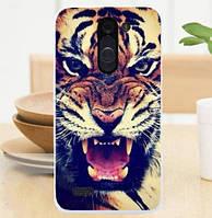 Силиконовый чехол бампер для LG L Bello d335 / LG L Prime d337 с картинкой Тигр
