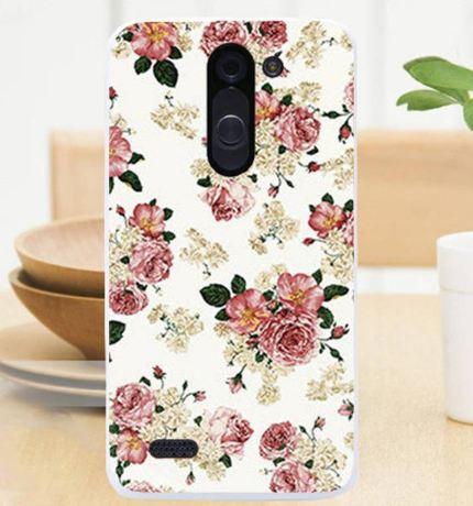 Силиконовый чехол бампер для LG L Bello d335 / LG L Prime d337 с картинкой Цветочки