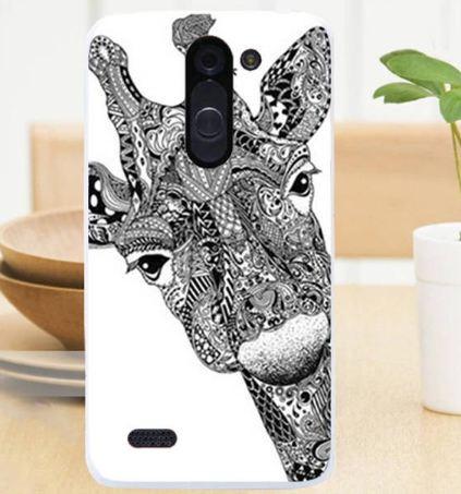 Силіконовий чохол бампер для LG L Bello d335 / LG L Prime d337 з картинкою Жираф