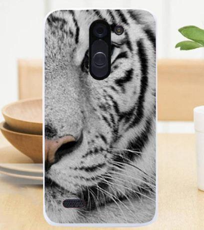 Силиконовый чехол бампер для LG L Bello d335 / LG L Prime d337 с картинкой Белый тигр