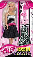 Кукла Ася с 2 маленькими черными платьями, Модные цвета, Ася