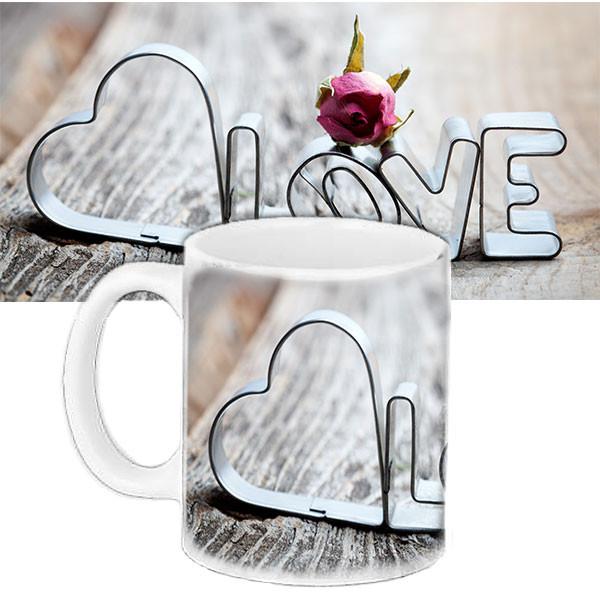 Чашка подарок с рисунком Love
