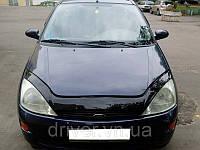 Дефлектор капота (мухобойка) Ford Focus 1998-2005 /длинный , на крепежах