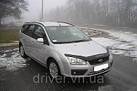Дефлектор капота (мухобойка) Ford Focus 2004-2008 , на крепежах