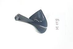 Каблук женский пластиковый 119 h-7,5 см. цвет гальваника
