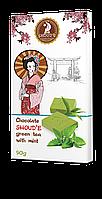 """Шоколад """"SHOUD'E"""" зеленый чай с мятой"""