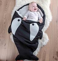 Детский спальник Акула, конверт, спальный мешок