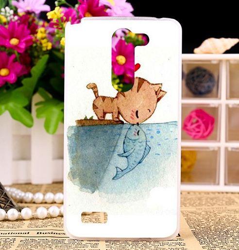 Оригинальный чехол накладка для LG L Bello d335 / LG L Prime d337 с принтом Поцелуй кота