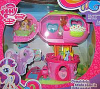 Розовый трехэтажный домик пони
