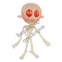 Лизун Антистресс Скелет большой с червями, фото 1