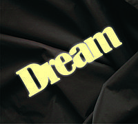 Объемная надпись Dream