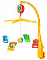 Музыкальный пластиковый мобиль на кроватку Мишки и слоники, Canpol babies