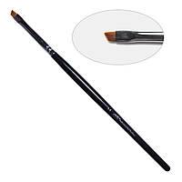 4D. Кисть для дизайна скошенная 2-s PNB, нейлон/Nail Art Brush slant 2-s, nylon