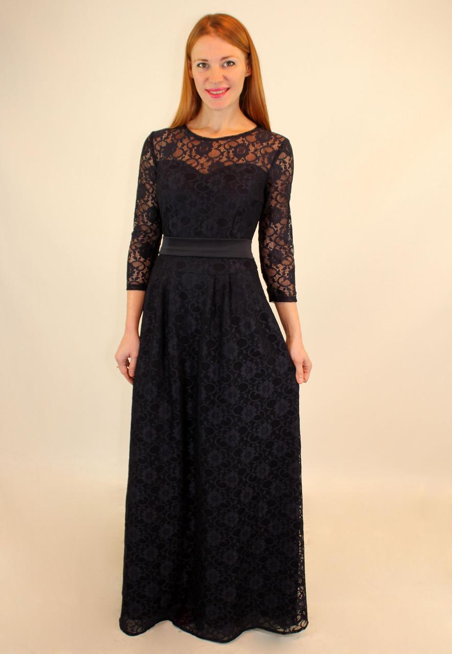 Вечернее платье из гипюра 44-50 р