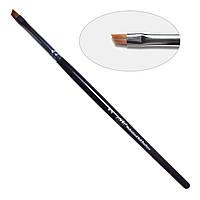 5D. Кисть для дизайна скошенная 4-s PNB, нейлон/Nail Art Brush slant 4-s, nylon