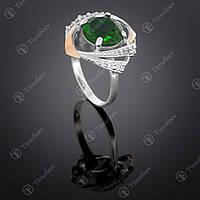 Серебряное кольцо с цирконием. Артикул П-298