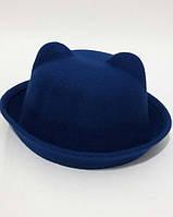 Шляпа с ушками ANN синяя
