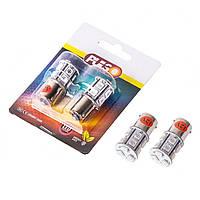 Лампа автомобильная PULSO/габаритная/LED S25/BA15s/13 SMD-5050/12v/Red/1 конт